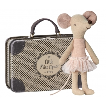 Ballerina Big Sister Mouse in Suitcase