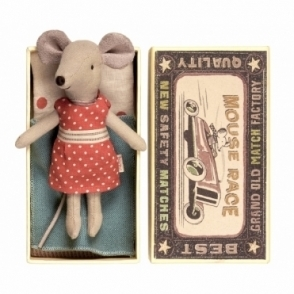 Big Sister Mouse Red Polka Dot Dress - Matchbox