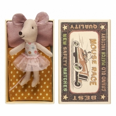 Little Sister Mouse Dots & Tulle Skirt - Matchbox