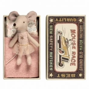 Little Sister Mouse Pink Tutu & Gold Star - Matchbox