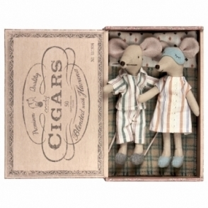 Mum & Dad Mouse - Cigar Box