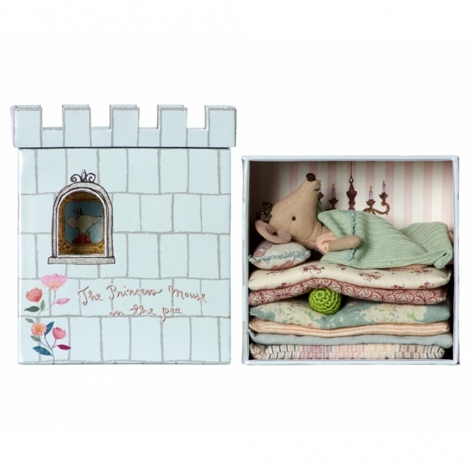 Maileg Mice Princess Mouse on the Pea - Bed & Castle Box