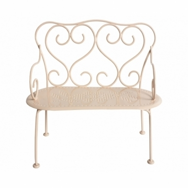 Romantic Metal Bench - Powder Pink