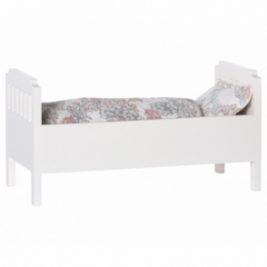 Wooden Bed Small - White