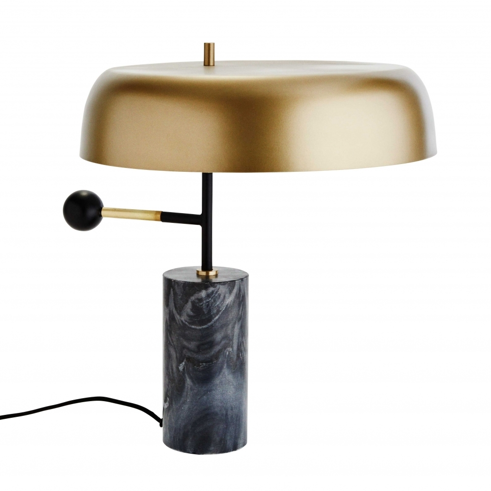Marble Table Lamp Black Gold