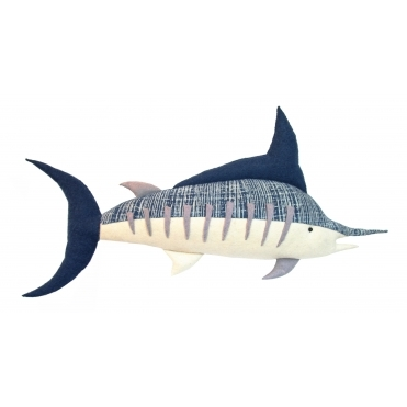 Marlin Felt Batik Fish Large - Wall Decor