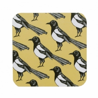 Mischievous Magpie Coasters - Set of 4