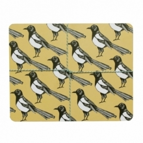 Mischievous Magpie Placemats - Set of 4