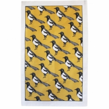 Mischievous Magpie Tea Towel