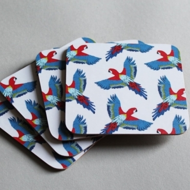 Parrot Coasters - Set of 4