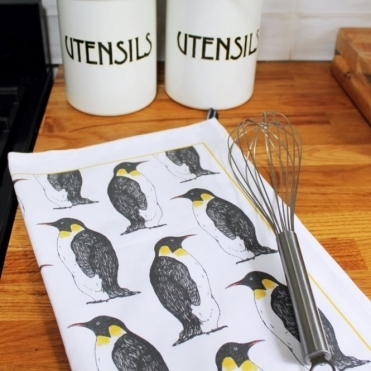 Party Penguin Tea Towel