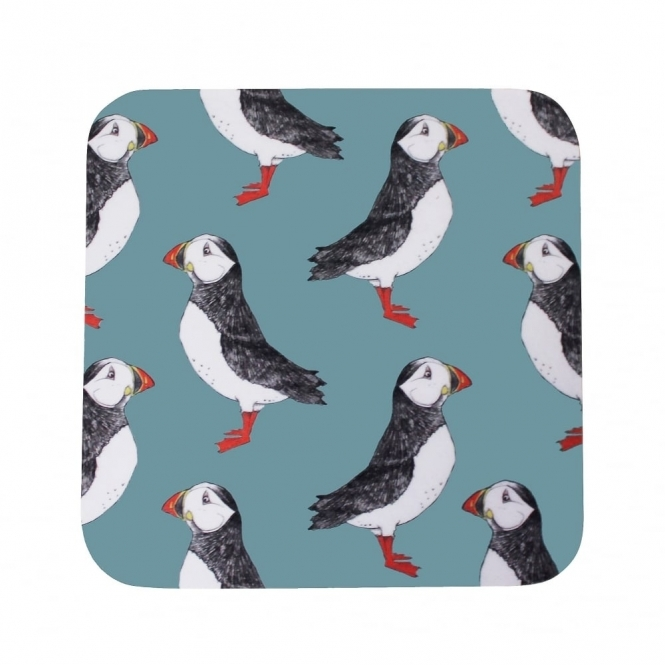 Martha And Hepsie Puffin Billy Coasters - Set of 4