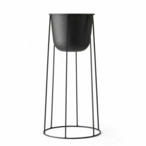 Plant Pot & Wire Stand Large - Black
