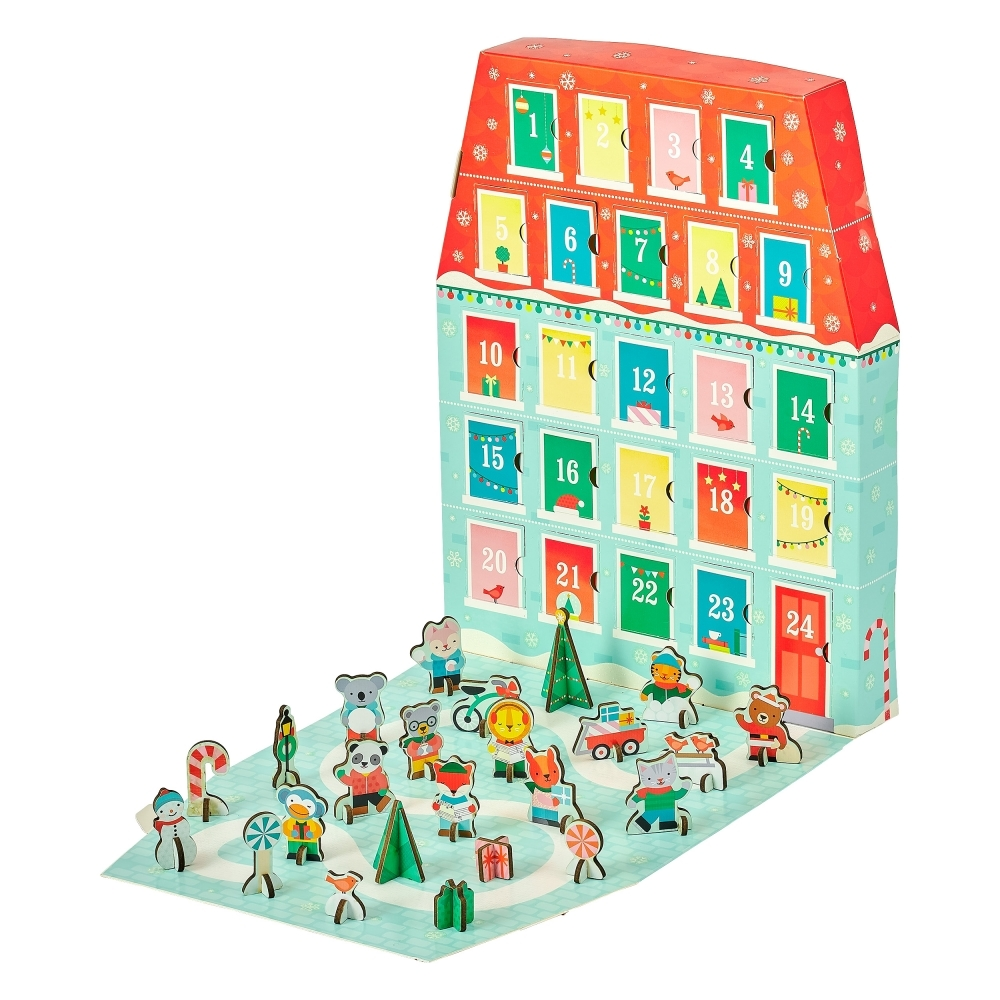 Christmas Countdown Calendar.Merry Christmas Advent Calendar 3d Puzzle