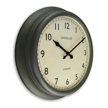 Metal Wall Clock 45cm - Pewter