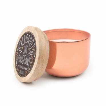 Metallic Copper Bowl Candle 5oz - Bergamot & Mahogany