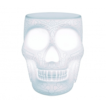 Mexican Skull LED White Stool / Side Table