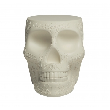 Mexican Skull Stool / Side Table - Ivory