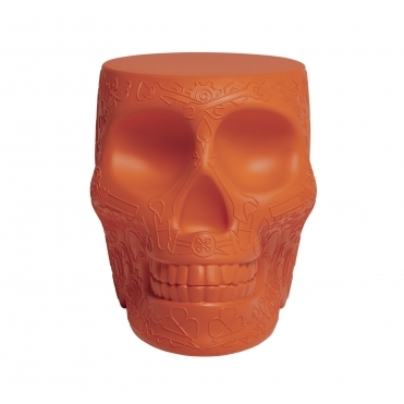 Mexican Skull Stool / Side Table - Terracotta