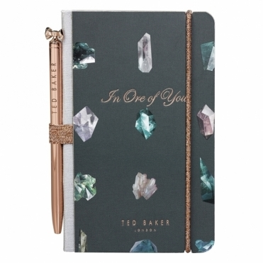 Mini Notebook & Pen - Linear Gem