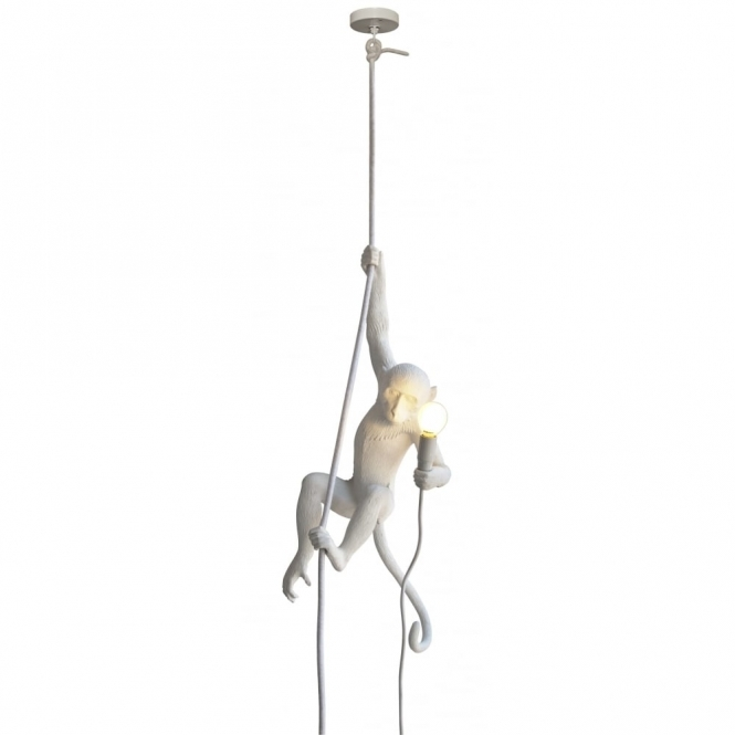 Monkey Lamp - Hanging Ceiling Light with Rope