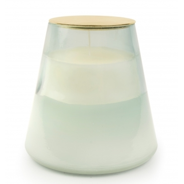 Moon Water & Sage Scented Candle - 2 Toned Glass Vessel