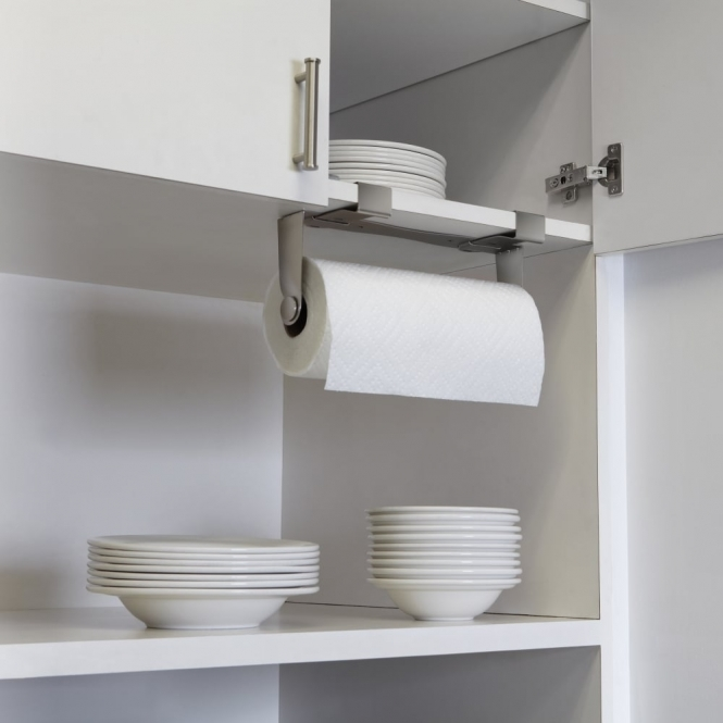Mountie Cabinet Mounted Paper Towel Holder Nickel