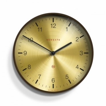 Mr Clarke Brass Arabic Dark Wood 40cm Wall Clock