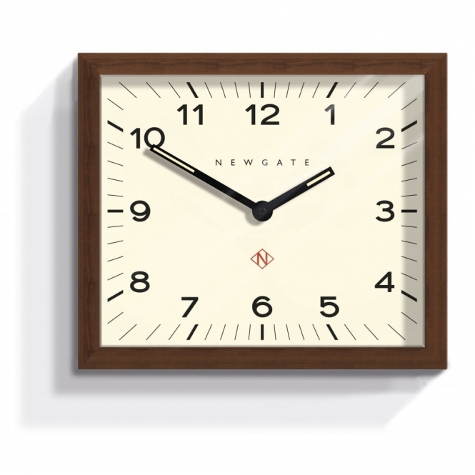 Newgate Mr Davies Wall Clock With Rectangular Wood Frame