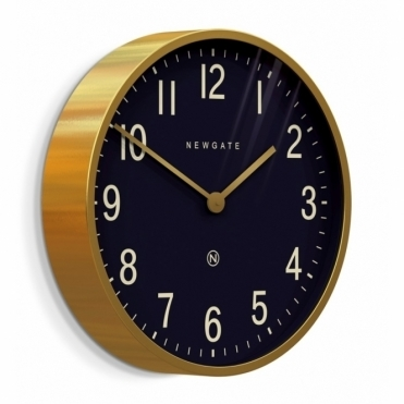 Mr Edwards Radial Brass Wall Clock - Petrol Blue