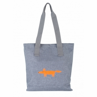 Mr Fox Canvas Tote Bag - Grey