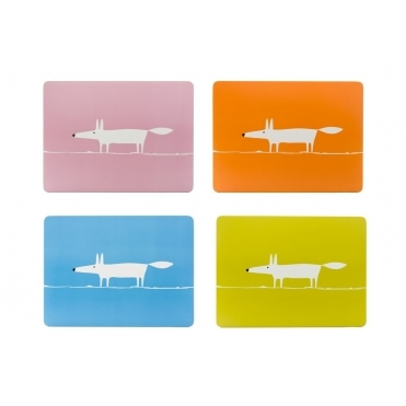 Mr Fox Placemats Spring - Set of 4