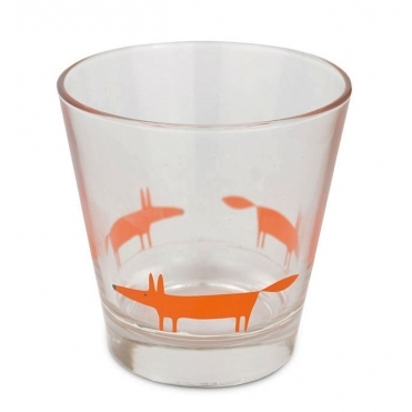 Mr Fox Tumbler Glasses Orange - Set of 6