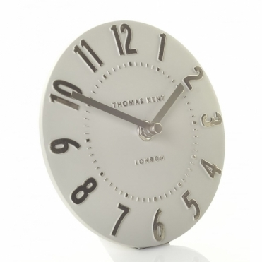 Mulberry Mantel Clock - Silver Cloud