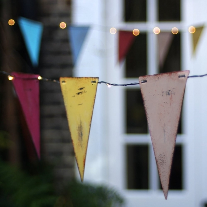Multi coloured bunting led string lights indoor outdoor aloadofball Image collections