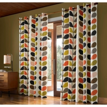 Multi Stem Lined Eyelet Curtains