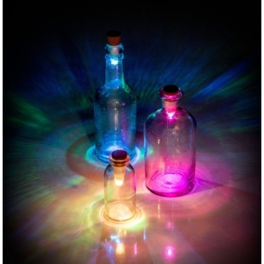 Multicolour Bottle Light - Rechargeable USB