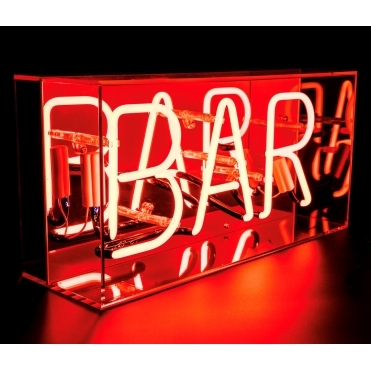 Neon Bar Sign Acrylic Box Light - Red