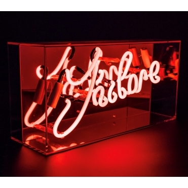 Neon J'adore Sign Acrylic Box Light - Red