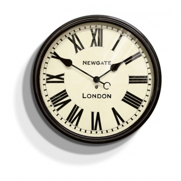 Battersby Large Dial Wall Clock Black