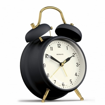 Brass Knocker Alarm Clock - Petrol Blue