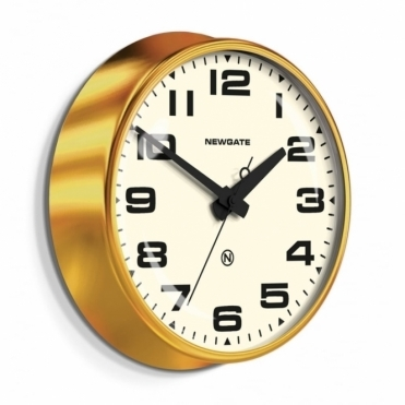 Brixton Wall Clock - Radial Brass / White Dial