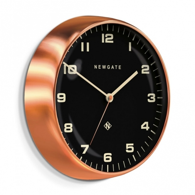 Newgate Clocks Chrysler Wall Clock - Radial Copper Black