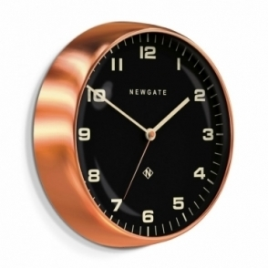 Chrysler Wall Clock - Radial Copper Black