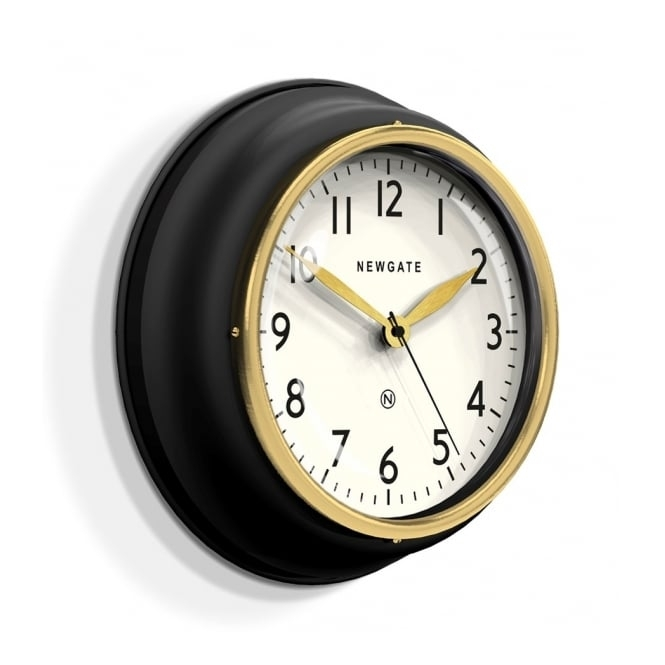 Newgate Clocks Cookhouse II Wall Clock - Matte Black