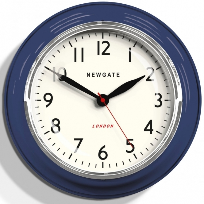 Newgate Clocks Cookhouse Wall Clock - Inkwell Blue