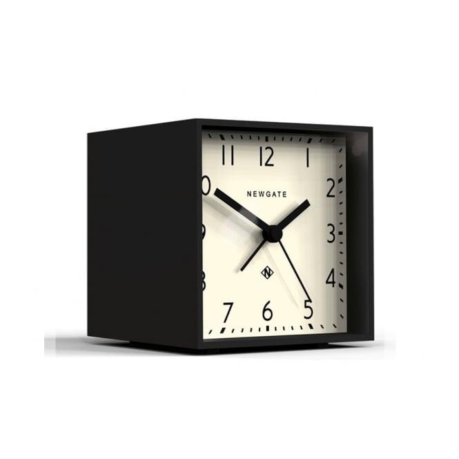 Newgate Clocks Cubic Alarm Clock - Gravity Grey / White Dial