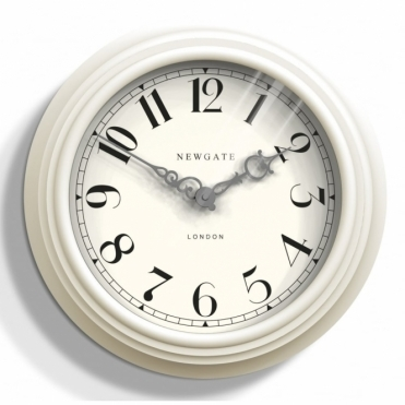 Dormitory Wall Clock - Linen White