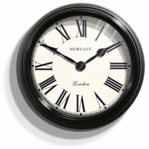 Gallery Large Wall Clock Ebony Black 50cm