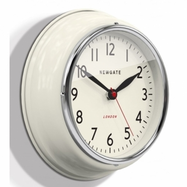 Mini Cookhouse Wall Clock - Linen White
